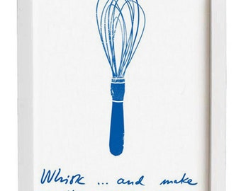 Kitchen Art - Whisk and make clouds - high quality fine art print