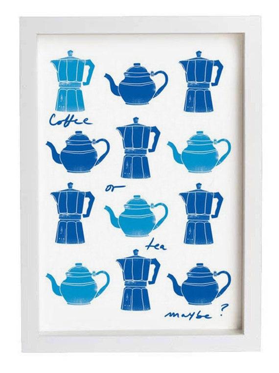Coffee or Tea Kitchen Art - high quality fine art print