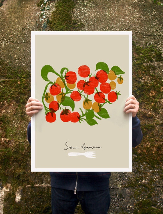 "Cherry Tomatoes Poster print  20""x27"" - archival fine art giclée print"