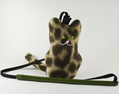 Kitty Combi Toy with removable catnip pouch