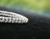 Chainmaille Bracelet - Sterling Silver Box Chain Chainmaille Bracelet -Free Shipping