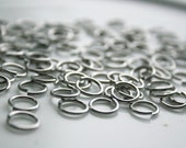 Chainmaille Wire Rings - 100 Silver Chainmaille Wire Rings
