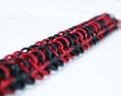 Reserved for  shannanboamah       Black and Red DragonBack Bracelet 18-gauge