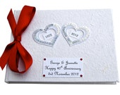 Custom Hearts 40th Anniversary Guest Book