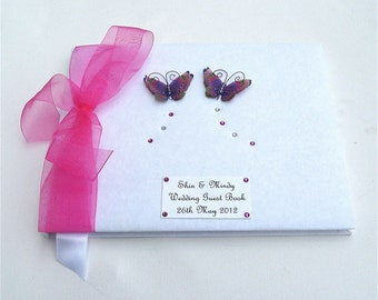 Tropical Butterfly Wedding Guest Book