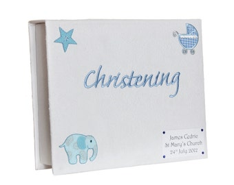 Baby Boy's Christening Keepsake Box