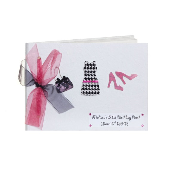 21 Ideas Guests Will: 21st Birthday Party Guest Book Pink And Black