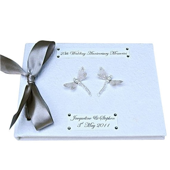 Silver Wedding Anniversary Guest Book