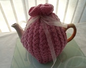 hand knitted tea cosy cosie merino wool uk seller