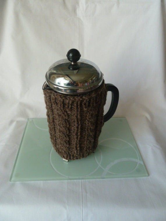 coffee pot cosy cosie  hand knitted