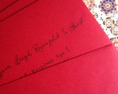 Wedding Calligraphy Handwritten - Red Envelopes Black Ink