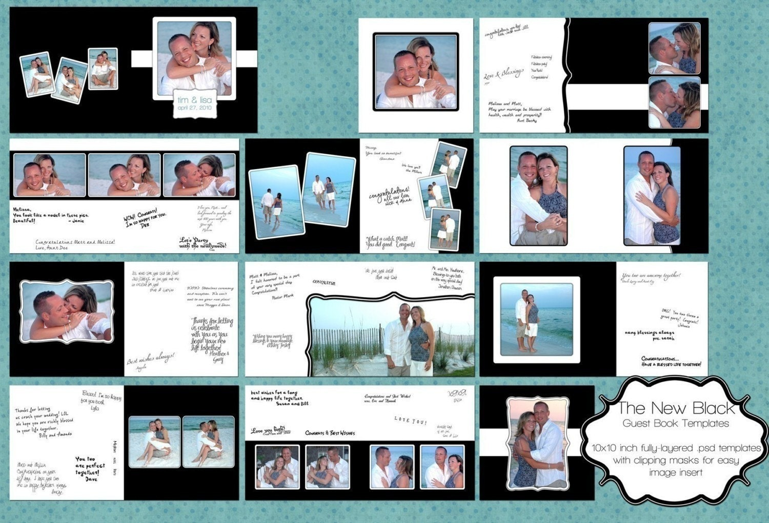 Wedding Guest Book Template
