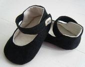 Black Hemp Alice in Wonderland Mary Jane Shoe For Your Baby Girl
