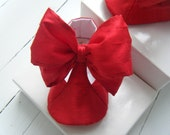 Red Riding Hood Dupioni Silk T-Strap Shoe For Your Baby Girl