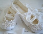 Organic Wedding Flats, Bridal Ballet Shoes, CHELSEY Ballet, Bobka Shoes by BobkaBaby - BobkaBaby