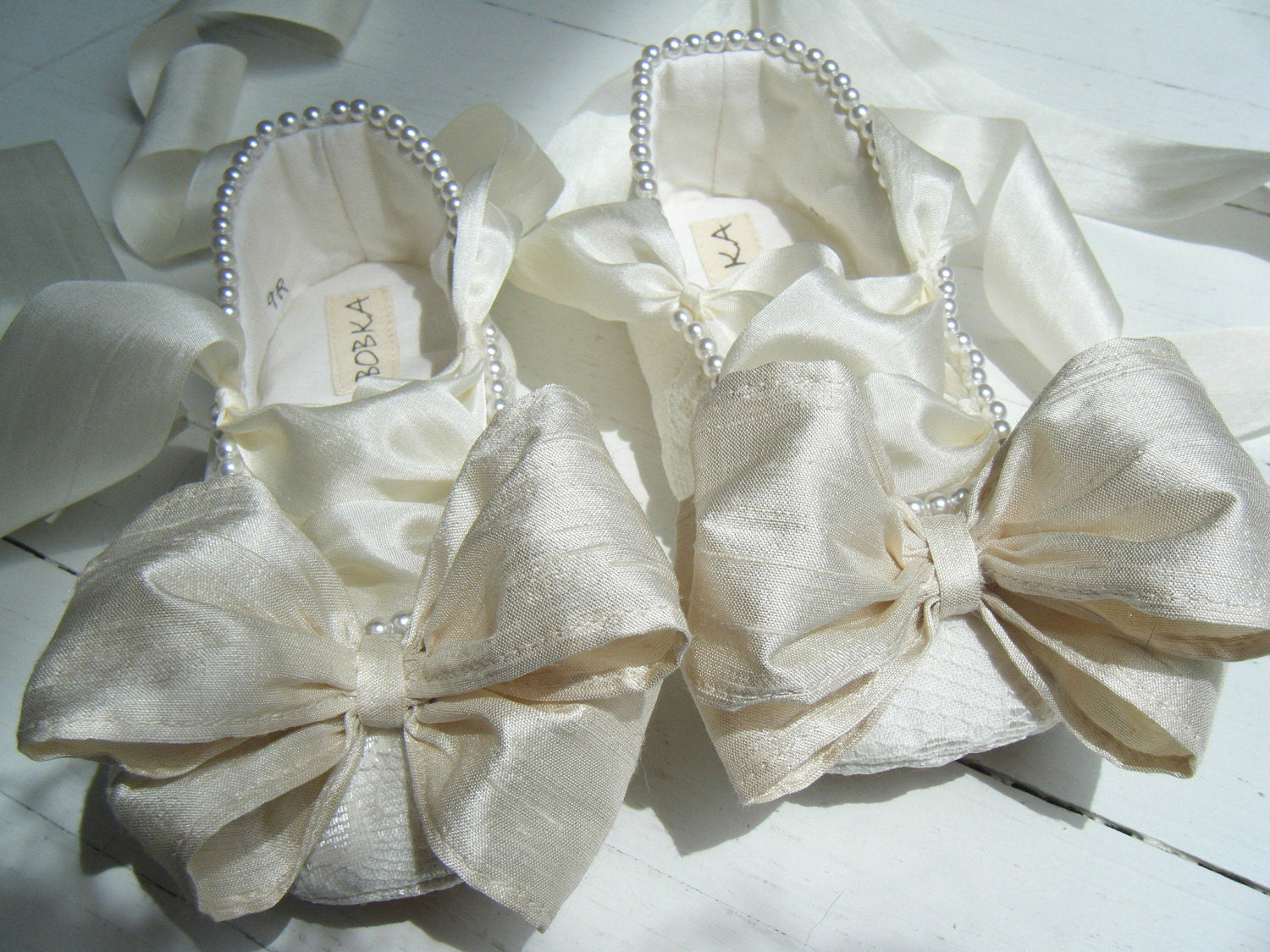 Ivory Flats With Pearls Flats Ivory Lace Pearl