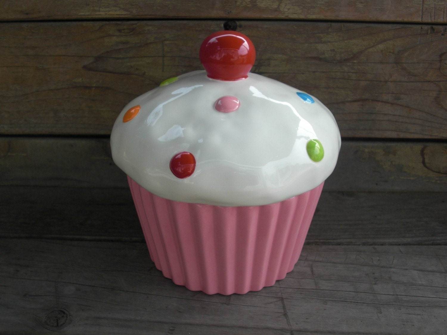 cupcake canisters for kitchen custom cupcake cookie jar or canister medium pick your 2623