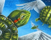 Acrylic miniature painting turtle Break Away