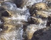 Photographs Water and Rocks   Rush