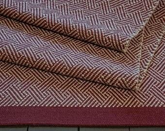 Hand Woven Wool Area Rug, Throw Rug, Floor Runner