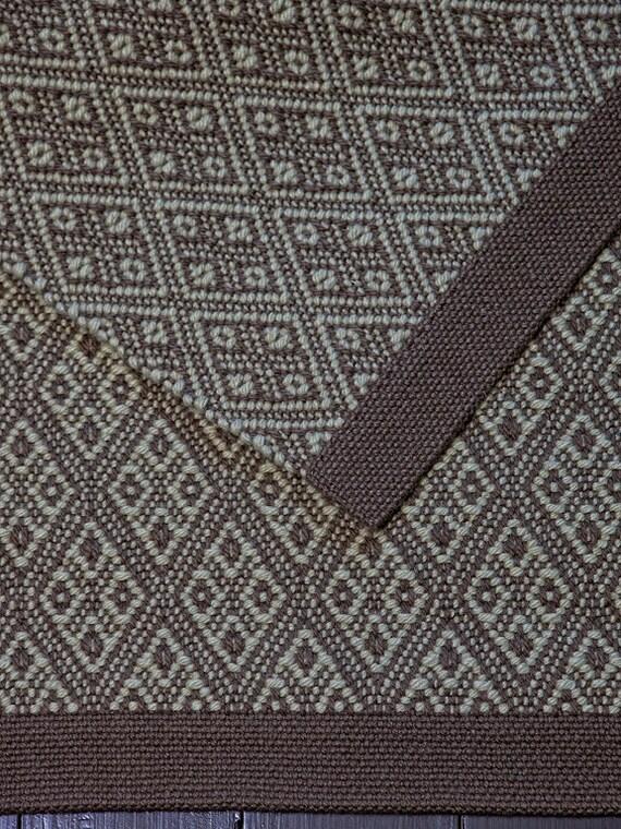 Small Wool Rug, Hand Woven Floor Runner, Area Rug