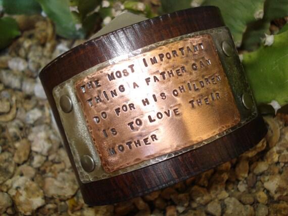 Mens Leather Custom Metal Cuff