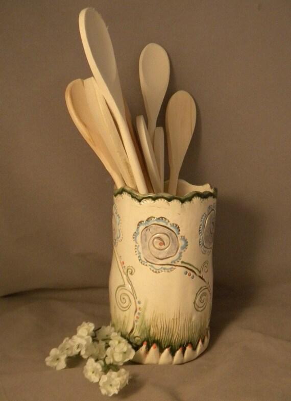 Funky Flower Kitchen Utensil Holder