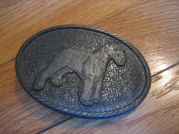 sale 1970's SCHNAUZER BELT BUCKLE for the dog lover