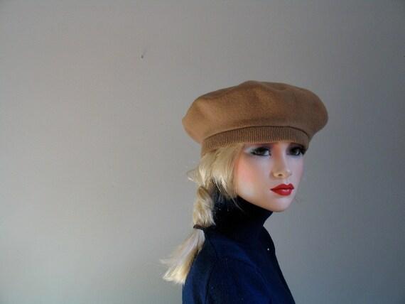 sale 1960's CAMEL COLOR BERET beatnik