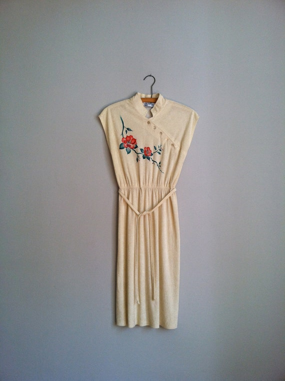 1980's  vintage dress. with flower print