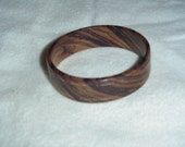 Bangle Bracelet Hand Crafted from Zebrawood (Sold out SPECIAL ORDER ONLY)