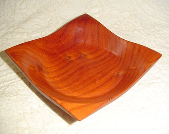 Hand Crafted Square Sided Padauk Bowl (SPECIAL ORDER ONLY)