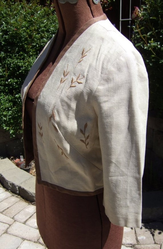 Carlye 60s juniors Irish linen bolero jacket