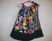 Day of the Dead Pillowcase Dress Size 3T also available in sizes 3 mon,6-9 mon,12 mon,18 mon,2T,3T and 4T