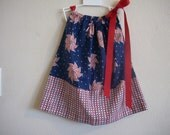 4th Of July Pinwheel  Pillowcase Dress Size  2T Also  Available  In Sizes 3-6 mon,6-9 mon,12 mon,18 mon,3T and 4T
