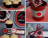 Printable 4th of July Party Package - DIY - 50 PERCENT OFF THRU JUNE 30TH