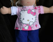 "15"" Hello Kitty Upcycle top"