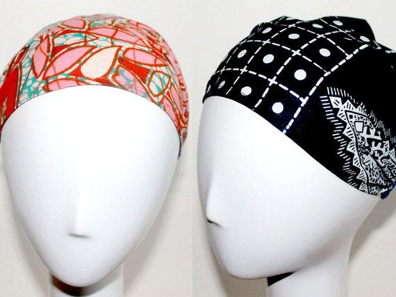 Yoga Cotton Workout Headband - Reversible Turban Wide Hippie Boho Headband head bands Hair Coverings
