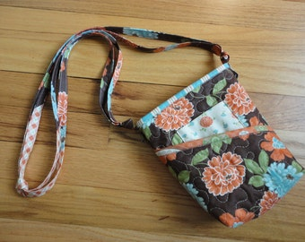 Quilted Small Purse - Cotton Blossoms Tote