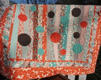 Orange Lap Quilt - Hello Betty Retro -