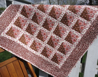Pink and Brown Small Quilt