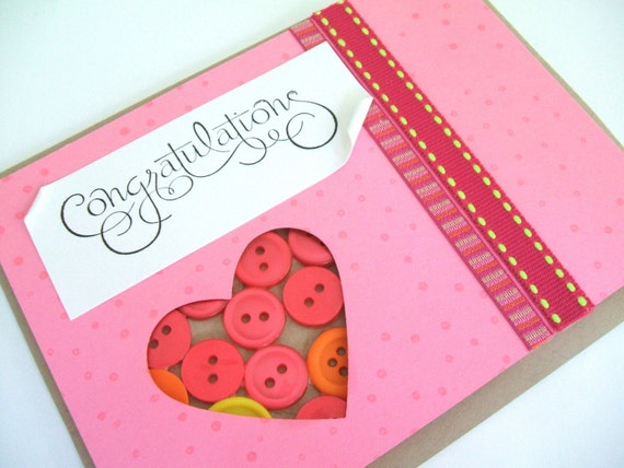 New Baby Card- Buttons for Baby Girl