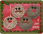 3 Pack Tweed Christmas Tree Decorations for Chaps and Chapesses
