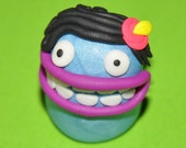 Margery the Ooberla Monster  - Glow In The Dark - Polymer Clay Fimo/Sculpey