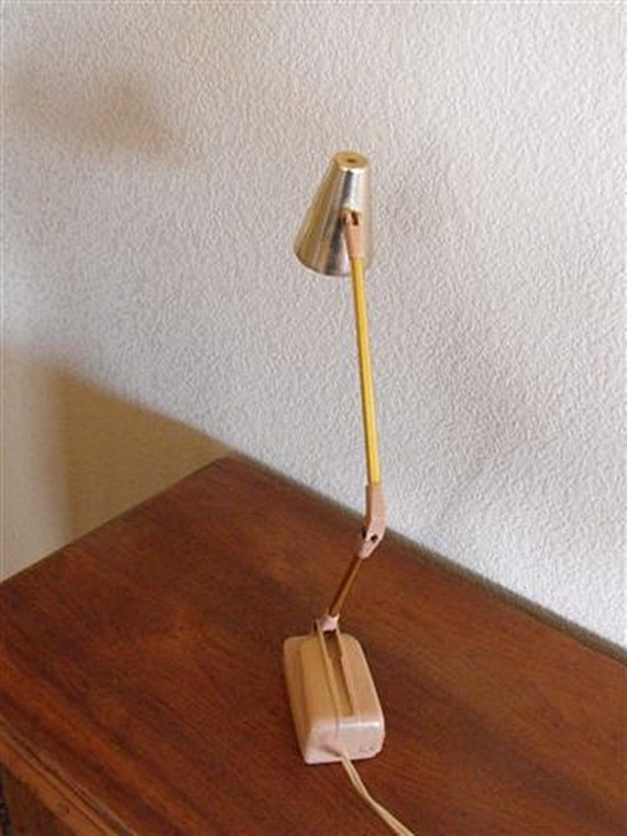Vintage Pink Desk Lamp