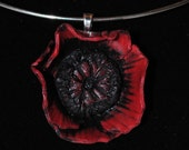 Red Poppy Pendent/Necklace
