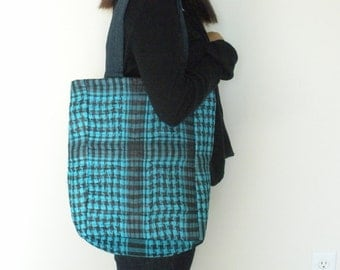 Large Tote Bag, Turquoise Bag, Unisex Bag, For Teens, For Students