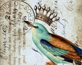 Crowned Bird Art Print