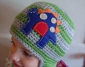 Custom Made RAWR-ously Cute Dinosaur Ear Flap Hat