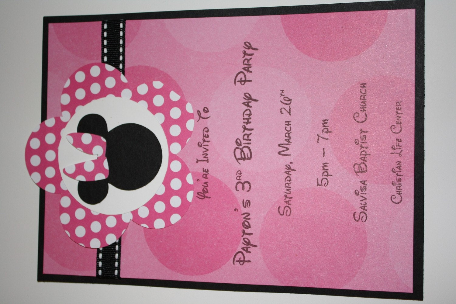 Minnie Mouse Party Invite with adorable invitation template